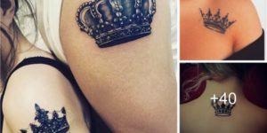 tatuajes de coronas para mujeres